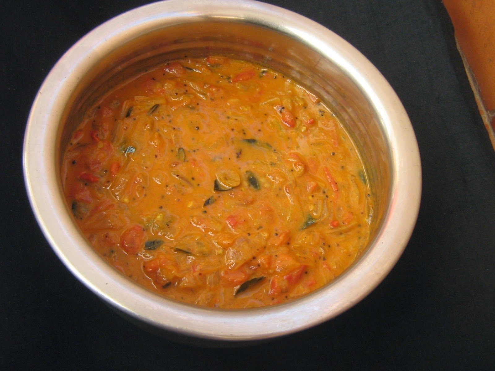 Thakkali Curry With Coconut Milk Tomato Curry Side