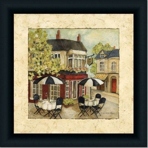 Cafe French Country Kitchen Decor I Art Print Framed By