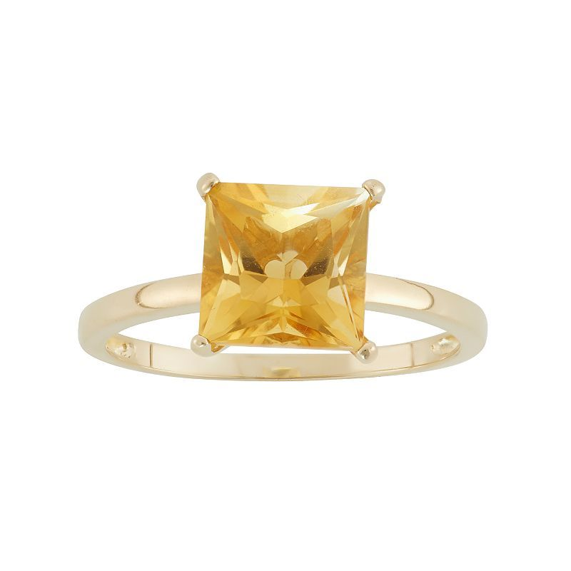 Citrine 10k Gold Ring 10k Gold Ring Gold Rings Gold Solitaire Ring