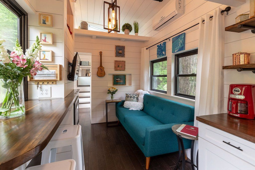 After two years of planning and  year construction my tiny house is now also luminaire page pinterest interior rh