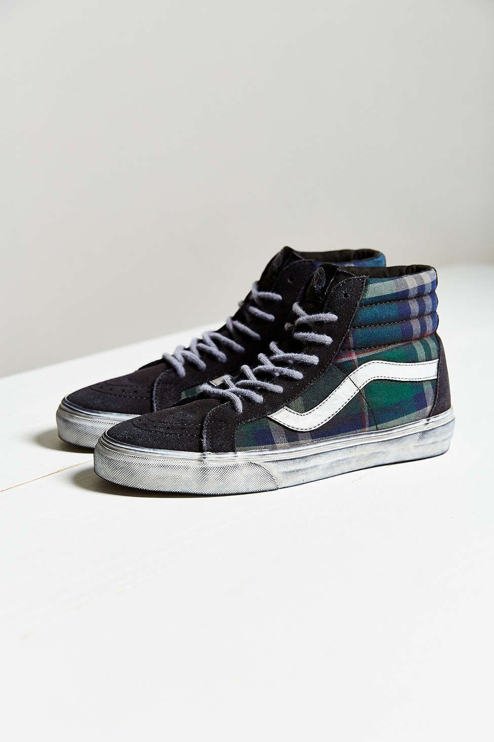 f3a01c7d8b Vans Sk8-Hi Overwashed Plaid Sneaker - Urban Outfitters