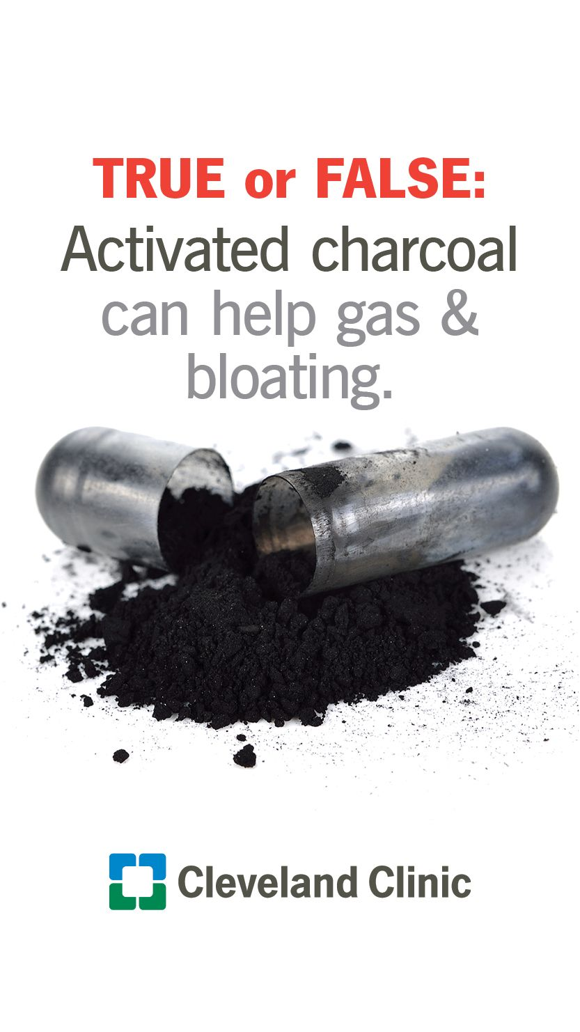 is it safe to take charcoal pills for gas and bloating