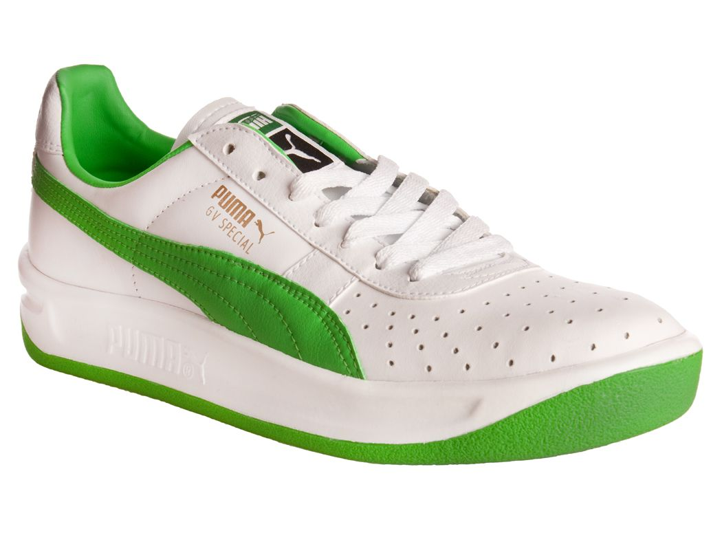 green and white pumas