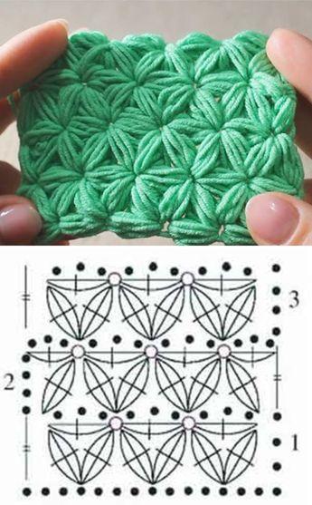 Jasmine Crochet Stitch Pattern Tutorial схемы вязания крючком схемы вязания уроки вязания крючком