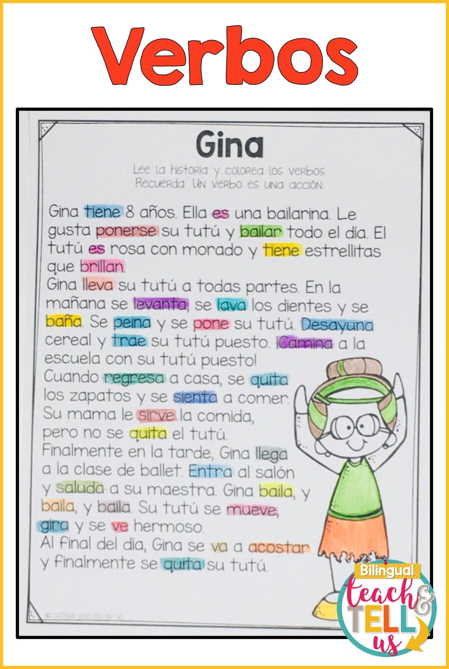 Verbos Verbs Spanish