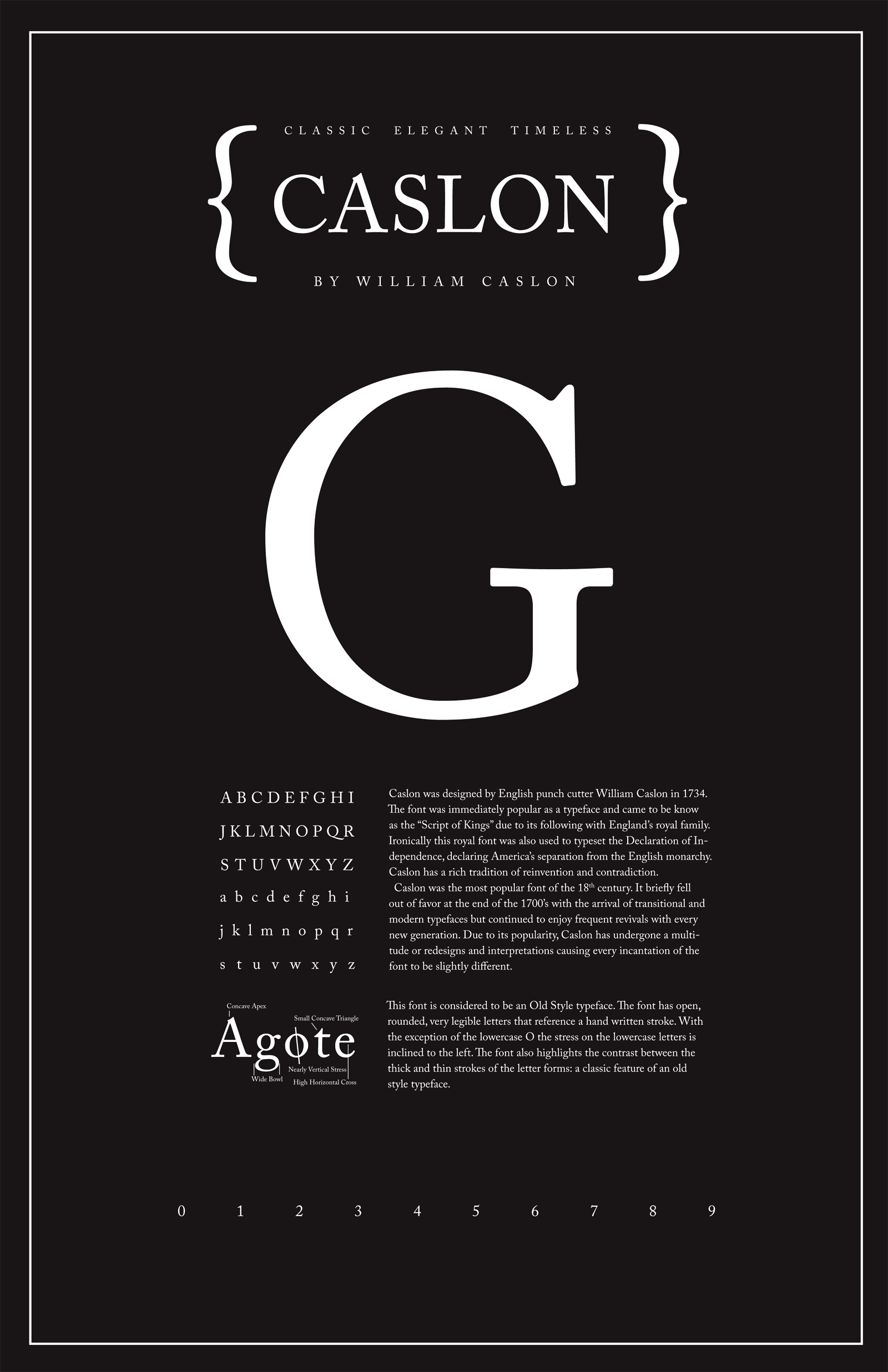 Caslon Typography Poster - Shannon Edgar