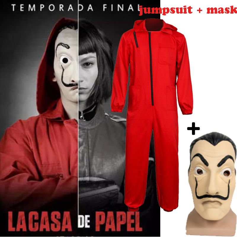 La Casa De Papel Season 3 Dali Halloween Costume Money Heist Cosplay Jumpsuit Takerlama Halloween Costumes Women Halloween Cosplay Halloween Costumes