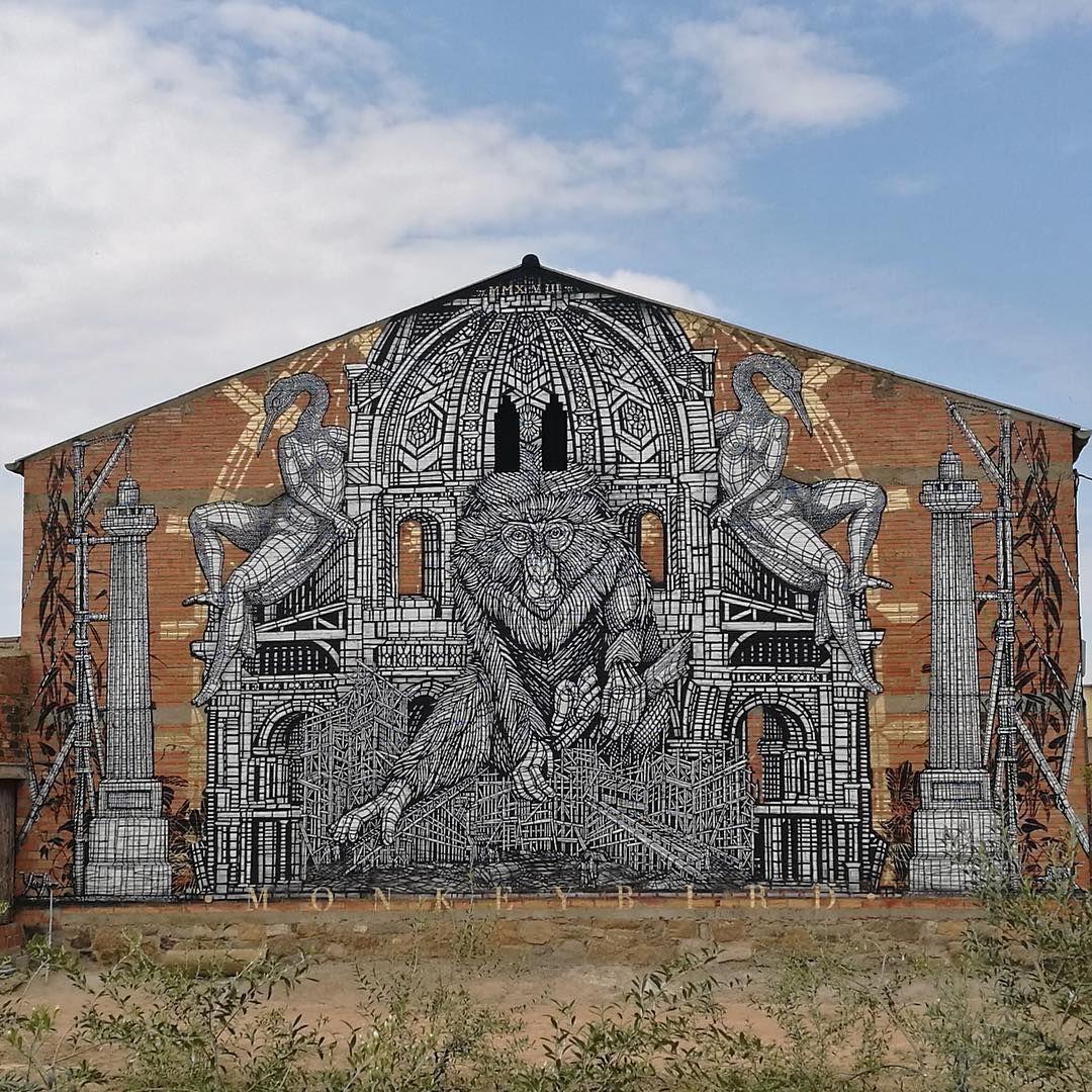 MonkeyBird | Street art, Colossal art, Graffiti murals