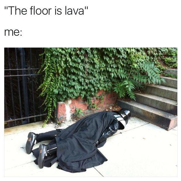 The floor is lava memes pinterest lava memes and humour for Floor is lava meme