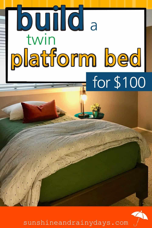 How To Build A Twin Platform Bed Twin Platform Bed Platform Bed