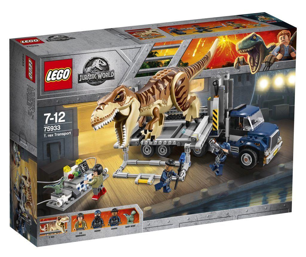Lego Reveals Final Jurassic World Set T Rex Transport 75933 Lego Jurassic Lego Jurassic World Jurassic World Set