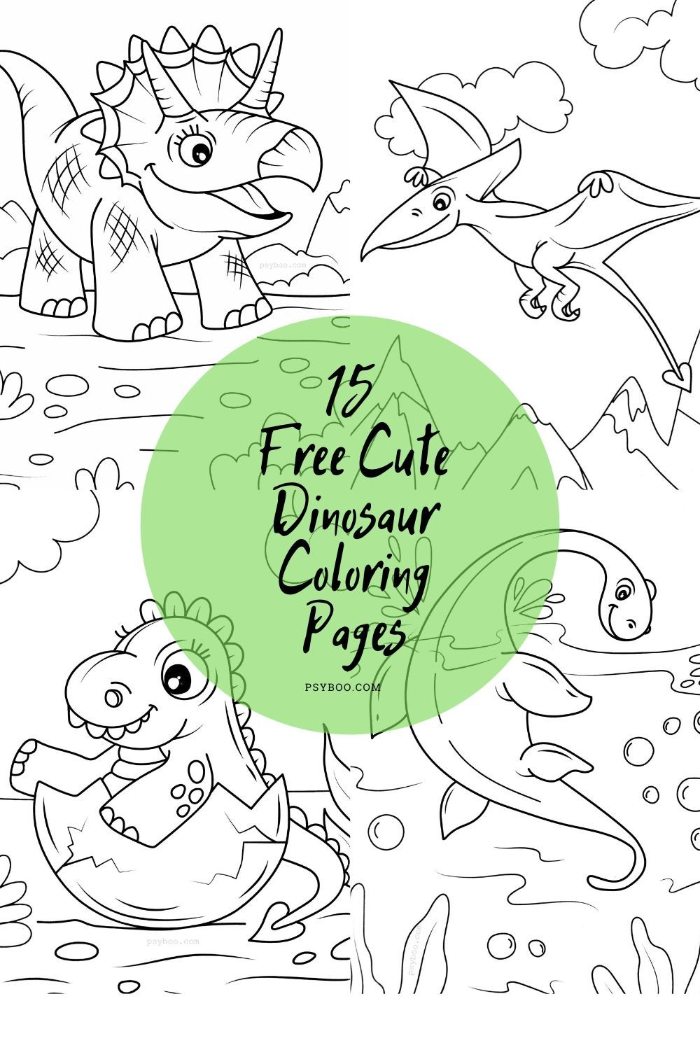 15 Cute Dinosaur Coloring Pages For Free Dinosaur Coloring Pages Dinosaur Coloring Dinosaur Coloring Sheets