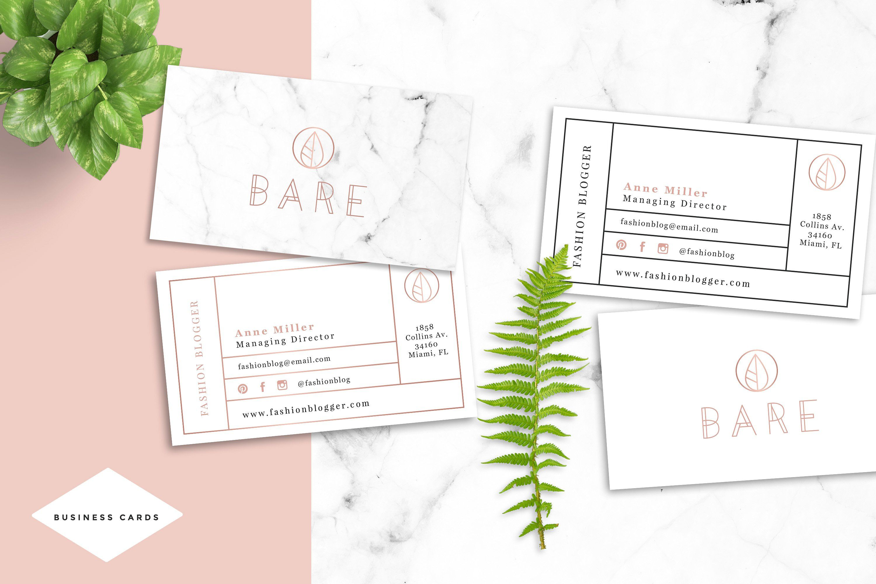Bare Fashion Business Card Template by NordicArg