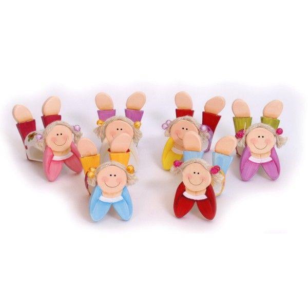 Bamboline portatovaglioli #festa #bimba #colori #bambola #giochi #candycorner