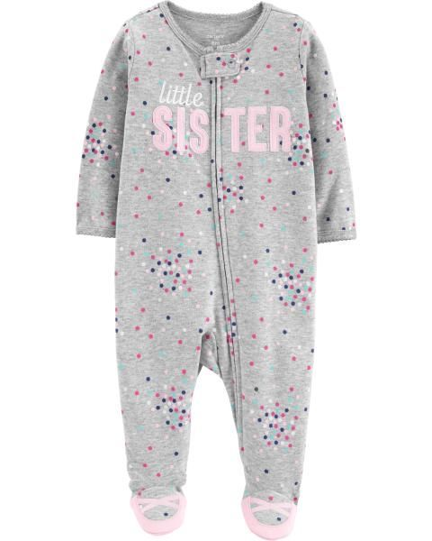 0d0608e27632 Little Sister Zip-Up Cotton Sleep   Play