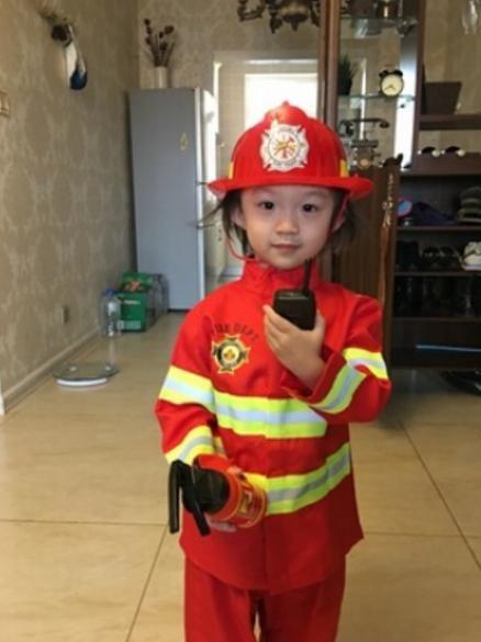 a2d849ce7ce8e 100-160 cm 2 colors 1Set Kid Child Halloween Christmas Cosplay Firefighter  Fireman Costume