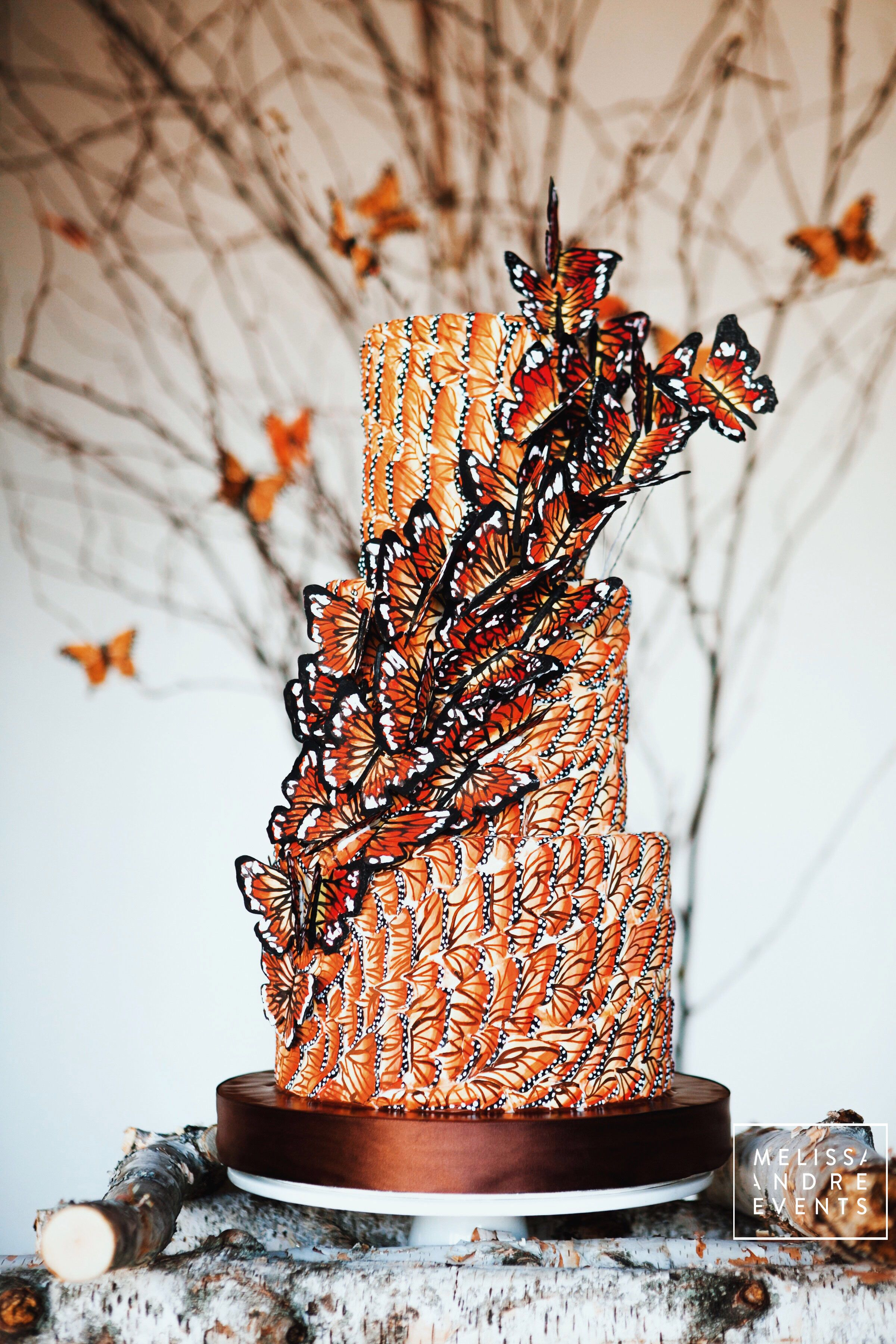 Butterfly dreamin' 🦋 🦋 🦋, custom cake for our Monarch
