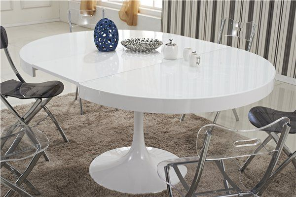 Table ronde extensible tulipe blanche table ronde for Table ronde rallonge blanche