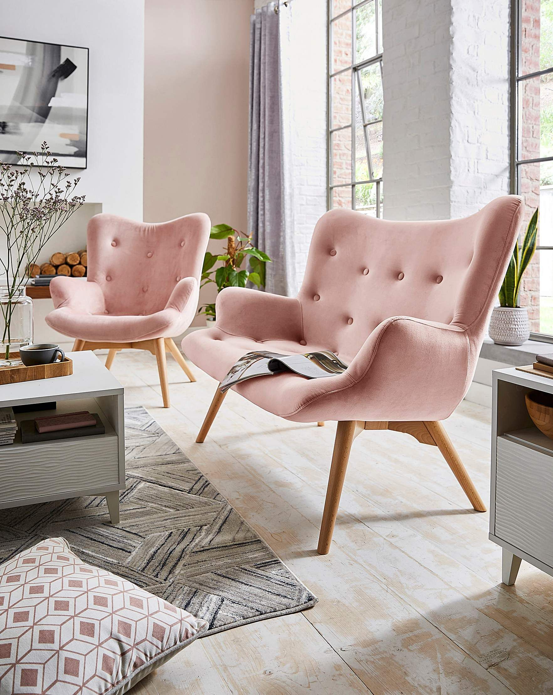Brigitte Accent Chair In 2020 Accent Chairs Pink Accent Chair