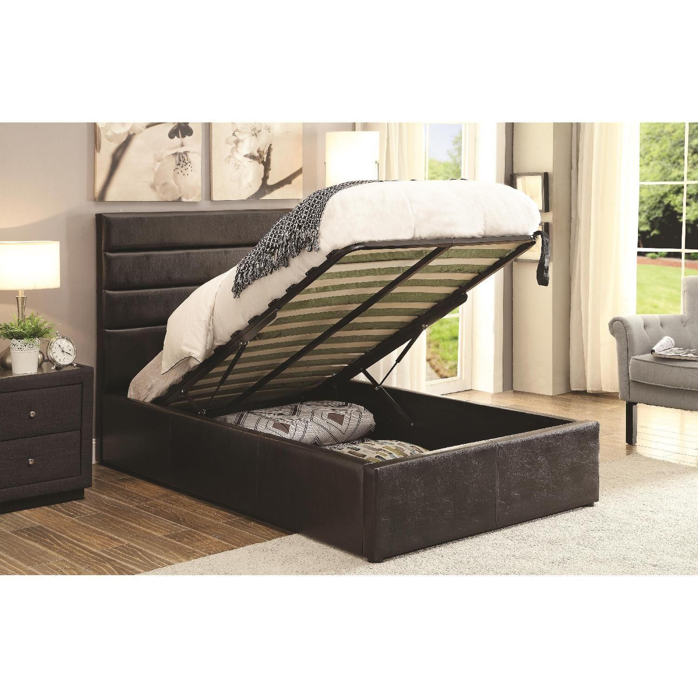 Storage Platform Bed Upholstered