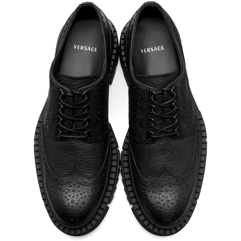 Versace - Black Treaded Brogues | Shoes
