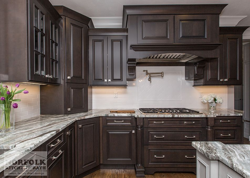 This Kitchen Was Designed By David In Our Braintree Kitchen Showroom Cabinets Showpla Brown Kitchen Cabinets Dark Brown Cabinets Dark Brown Kitchen Cabinets