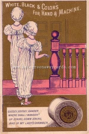Kate Greenaway - Greeting Cards, Trade Cards, Calanders, Books and Almanacks - J & P Coats - Part 1