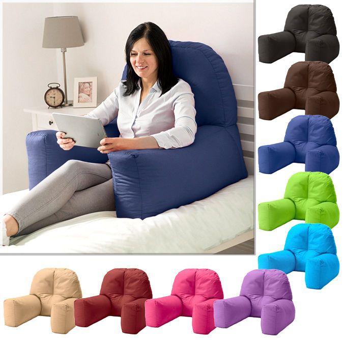 cotton bed reading bean bag cushion arm