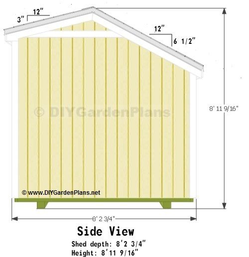 10x8 Saltbox Shed Plans Shed Plans Diy Shed Plans Shed Storage