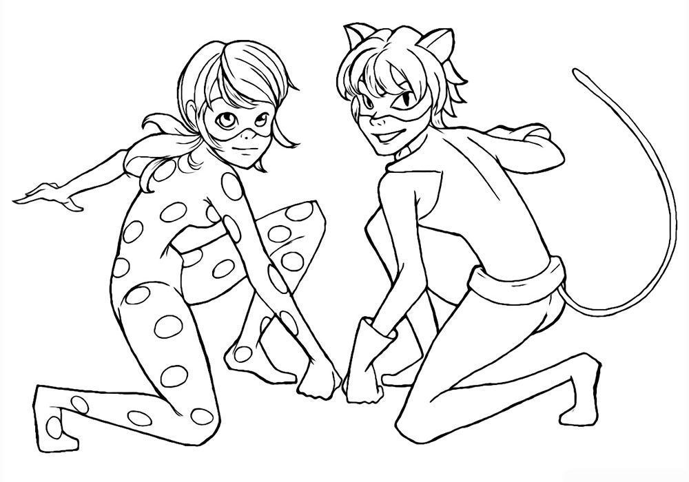 Ladybug And Cat Noir Coloring Pages Ladybug Coloring Page