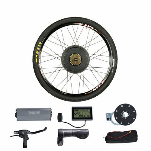 48v 1500w Rear Wheel Electric Bicycle Conversion Kits For 20 24