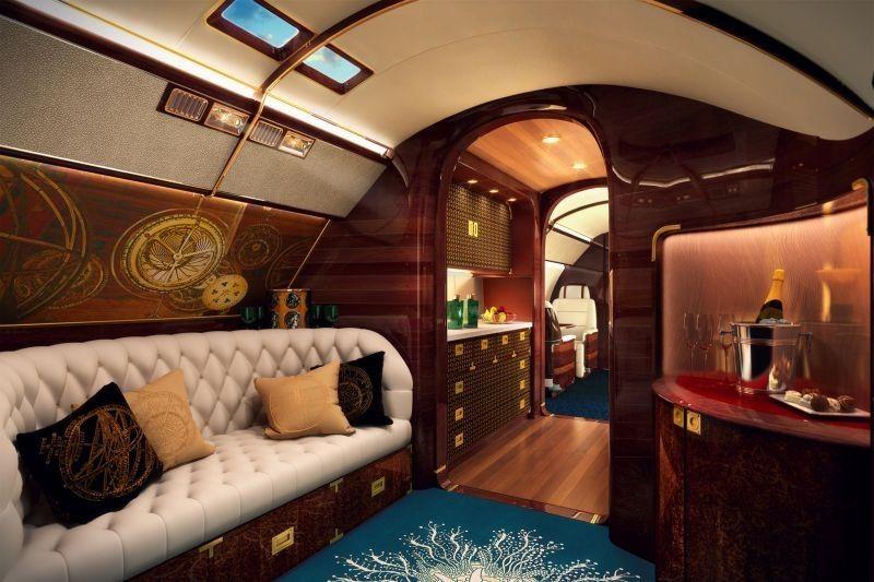 Luxus Privatjets, Privatflugzeug, Granit Dusche, Privat Jet Innenraum, 28.  Januar
