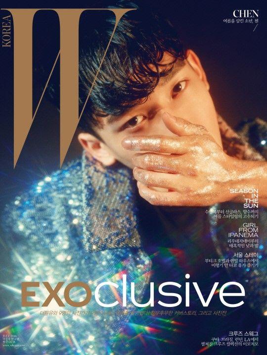 Chen (EXO) - W Magazine July Issue u002716 exo --- exo-k and exo-m