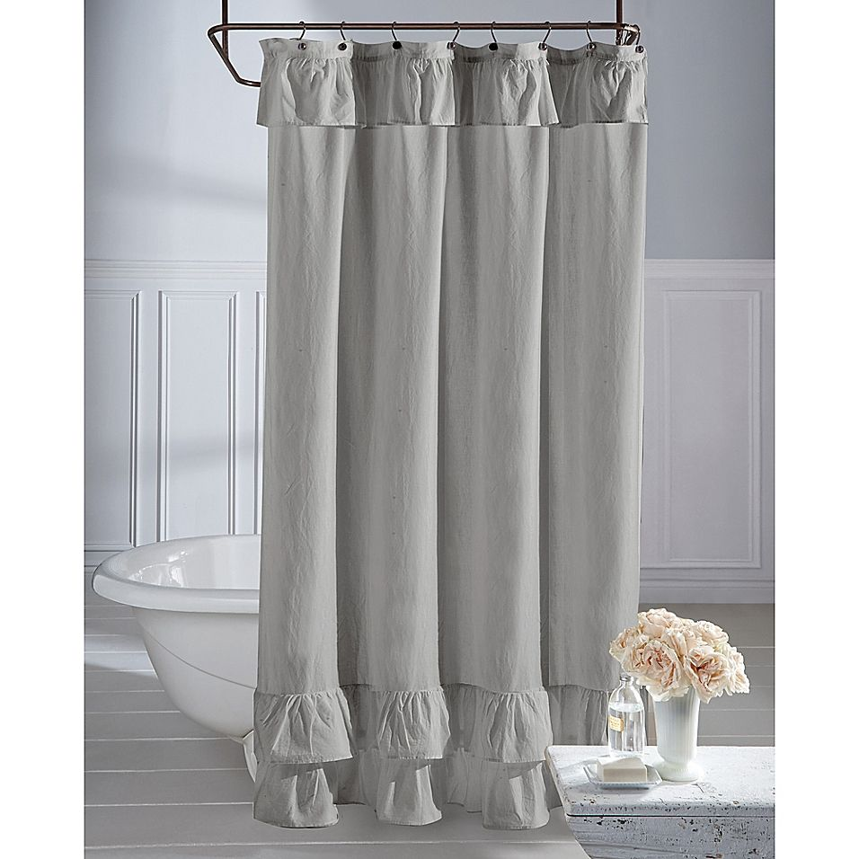 Wamsutta Vintage Ruffle 54 X 78 Shower Curtain In Grey In 2019