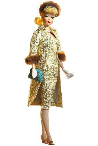 boneca barbie evening splendor gold label 1959 rara