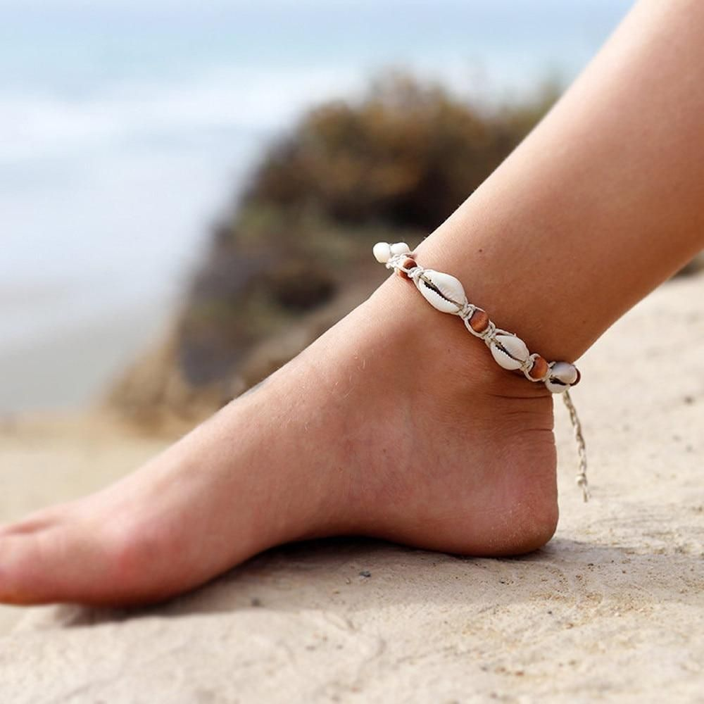 Shell Anklet Shell Jewelry Adjustable Ankle Bracelet Beach Anklet Beach Jewelry Sterling Silver Anklet Silver Anklet Made in USA Cute Anklet