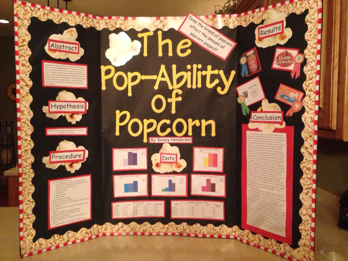 The Pop Ability Of Popcorn Science Fair Project