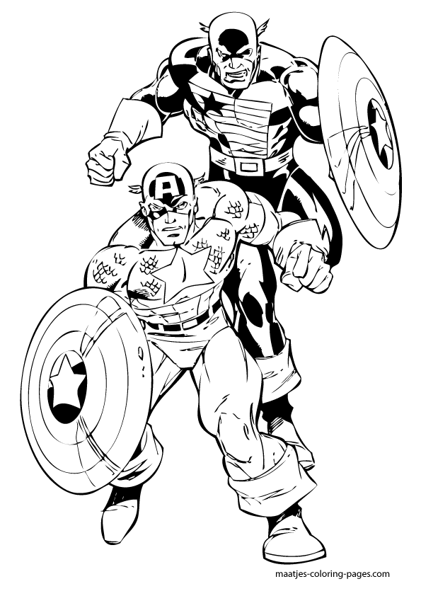 Printable Lego Marvel Superheroes Captain America Coloring: Captain America Coloring Pages