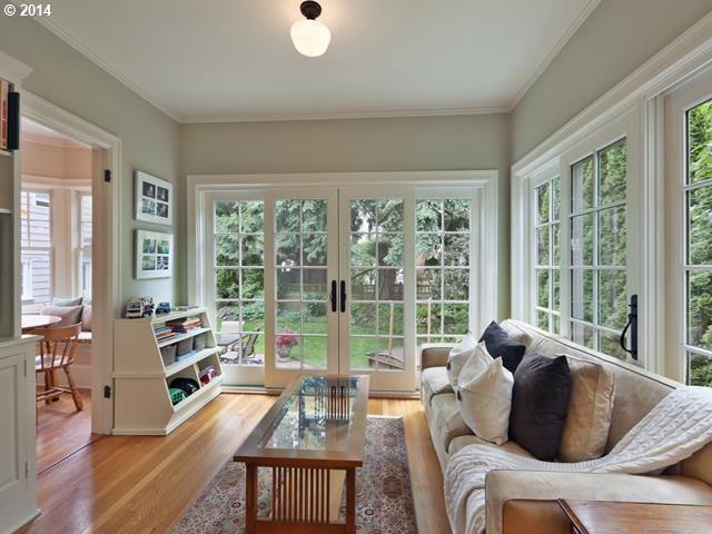 Dutch Colonial Home In Alameda Portland Sunroom Designs Sunroom Decorating Small Sunroom