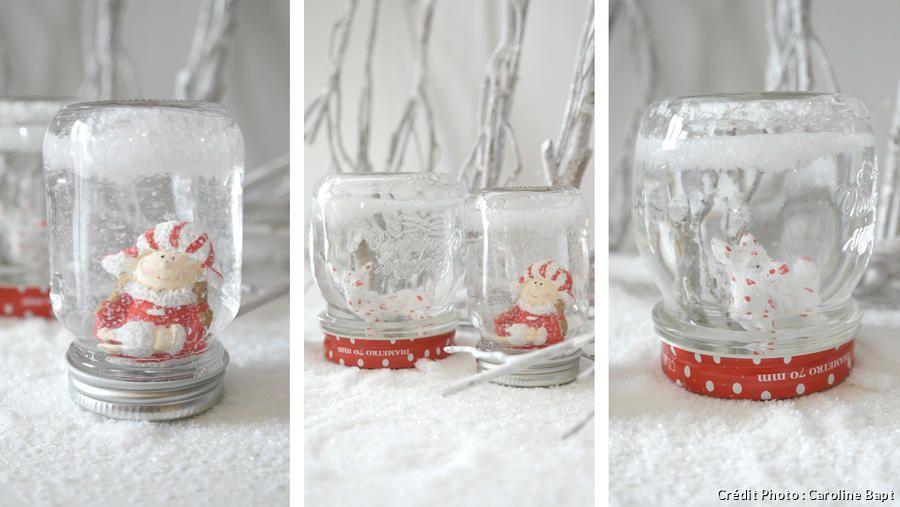 Fabriquez vos boules à neige maison pour Noël