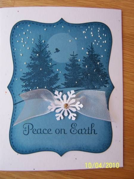 Blue Scenic Season by Dolly Watt - Cards and Paper Crafts at Splitcoaststampers #wintercards