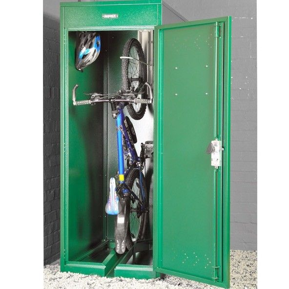 Asgard Metal Security Shed   Vertical Bike Locker