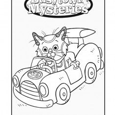 richard scarry halloween coloring pages - photo#5