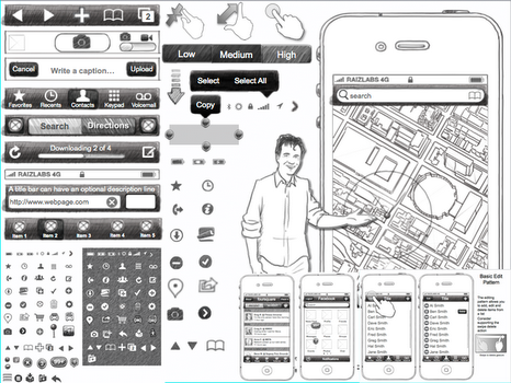 Wireframe toolkit for keynote and powerpoint this could for Powerpoint wireframe template for ui design