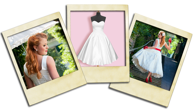 Love these #vintage #wedding dresses from The Powder Room!