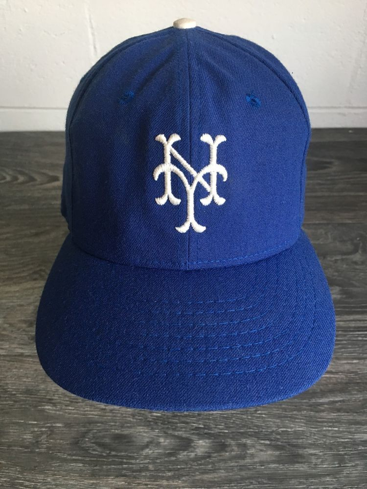 48efbe473b2 New York Yankees Hat Vtg 70s NYC NY Roman Pro Sewn MLB Baseball Cap Fitted 7  1 4