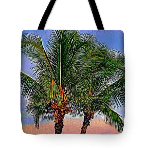 Tote Bags - Palm Trees Tote Bag by Pamela Walton