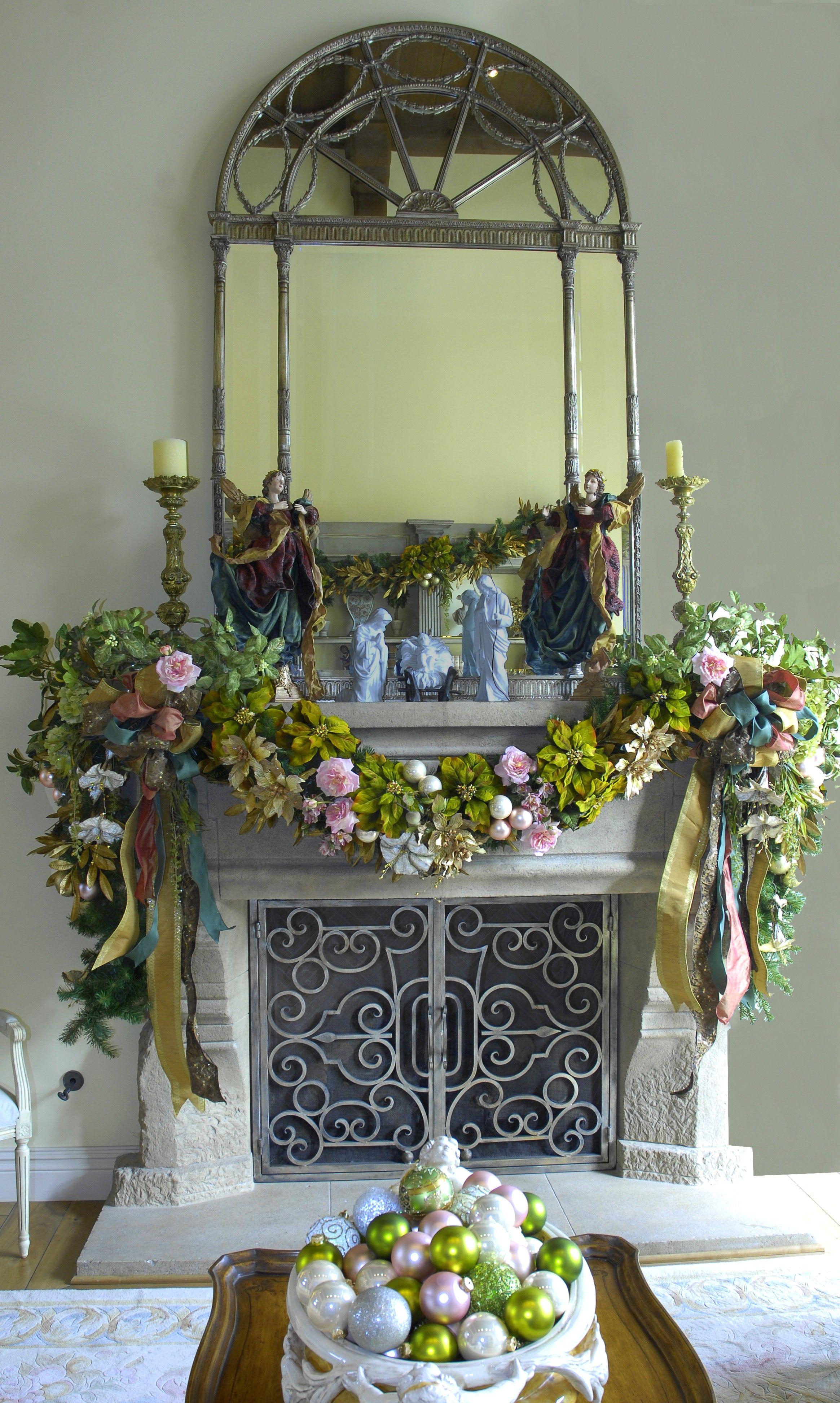 www.leannemichael.com Christmas mantel: Italian Garden Theme ...