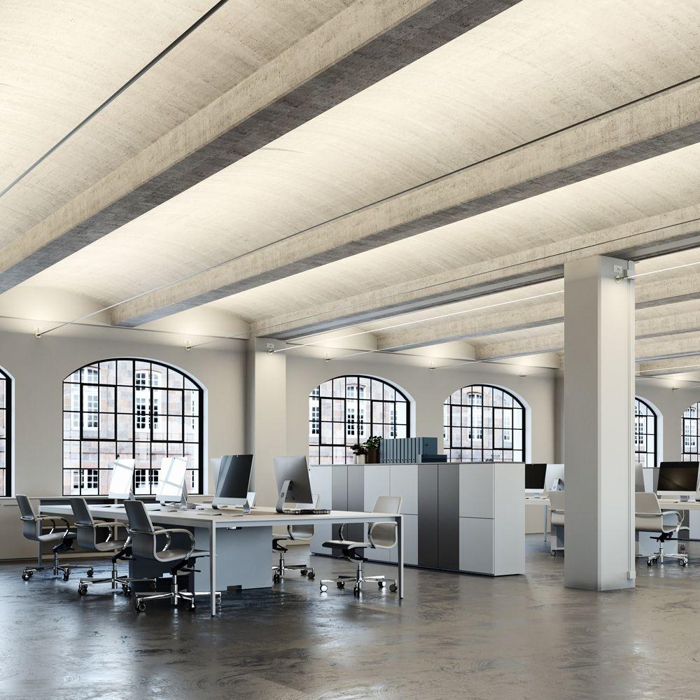 Langes Led Stripe Beleuchtungssystem Grosse Raume Gleichmassig Ausleuchten Design Leuchten Licht Und Architektur Beleuchtungsideen