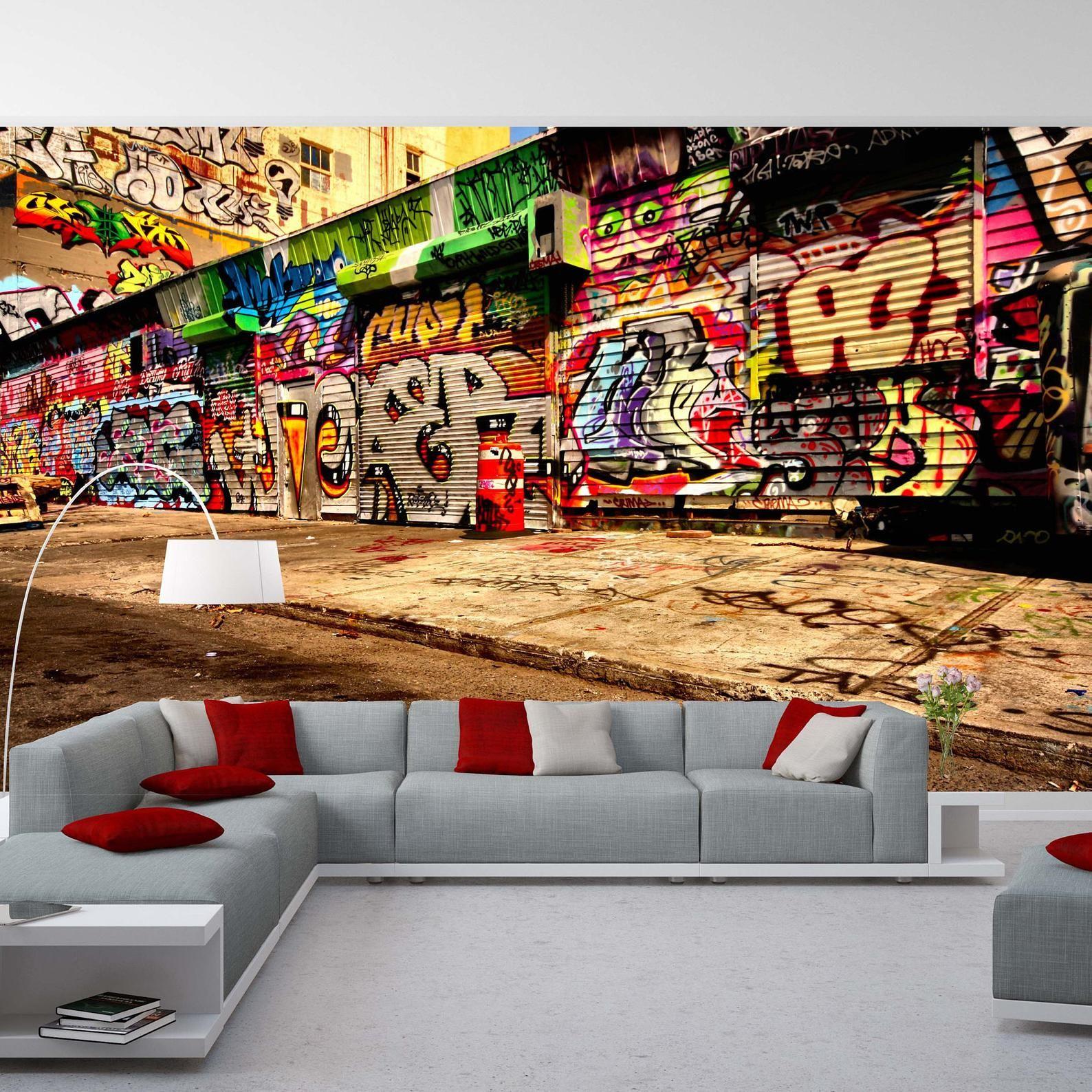 Removable Wallpaper Mural Peel & Stick Graffiti Self ...